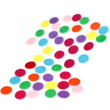 1000pcs DIY 1.5CM Round Felt Fabric Pads Accessory Patches Circle Fabric Flower Accessories for flower,hat,handbag,clothes Decor