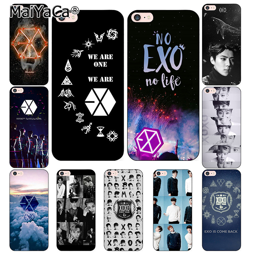 MaiYaCa Kpop exo Lucky one phone Cases iphone 7 7Plus Soft silicon Case iphone X 6 6s 6Plus 6splus 8 8plus back cover