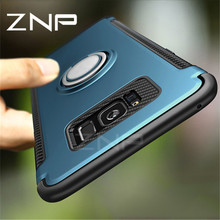 ZNP Luxury Shockproof Case For Samsung Galaxy S8 Plus S7 Edge Note 8 Metal Ring Holder Phone Cover For Samsung S8 S7 Note 8 Case(China)