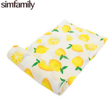 [simfamily] 1Pc Baby blanket Organic Bamboo 2 layers Gauze baby towel soft and breathable newborn swaddle infant wrap 110x110cm