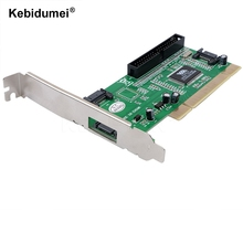 kebidumei 3 ports SATA + IDE Serial HDD ATA PCI Card Converter Adapter for PC Tablet Computer 1.5Gb/s Data Rate(China)