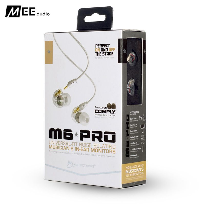 24 hours Promotion MEE audio M6 PRO Noise Isolating Music In Ear Headsets Universal Fit Wired Earphones With Retail Box AS SE535<br>