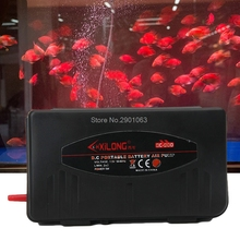 Aquarium Air Pump Battery Operated Fish Tank Aerator Oxygen With Air Stone 5W H06