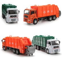 35Cm Large Diecast Model Buses Toy Garbage Truck Autorama Brinquedo Eco-friendly Car Transport Vehicle Model Toy Gift For Boy