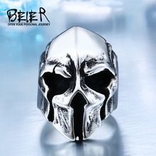 New Store Dropshipping Big Biker Skull Ring For Man Stainless Steel Unique Punk Men Cool Vintage Jewelry BR8-414(China)
