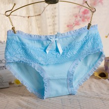 Buy Sexy Soild Color Multi-Color Women Lace Briefs Low Waist Lingerie Panties Underwear Knickers