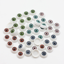 10pcs/lot 15MM Reborn Baby Doll Kits BJD Doll Eyeball Toys Half Round Acrylic Doll Eyes Different Color es014