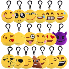 Wechat Emoji Keychain Plush Keyring Emoticon Key Ring Plush Face Emoji Key Chain Bag Hanger Phone Chain Fur Keychain S3755