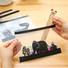 Translucent Matte Animal File Folder Waterproof Zip Bag Document Holder Pen Pouch Filing Products Pocket Office School Supplies(China)