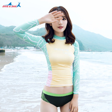 Women's  Rashguard, Long Sleeve Rash Guard, UV Sun Protection Swimsuit Top, UPF 50+ Ladies Swim Surf Swimwear Beach Swim T Shirt
