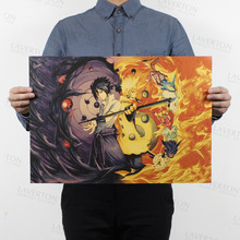 Free shipping,NARUTO E Style/classic Japanese Cartoon Comic /kraft paper/bar poster/Retro Poster/decorative painting 51x35.5cm