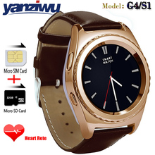 YANZIWU New Bluetooth Smart Watch G4 Support SIM TF Card Heart Rate Moniter Smartwatch For Iphone xiaomi Android PK GT08 DZ09 U8