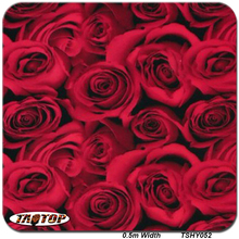 TAOTOP Free Shipping 50cm Width *10m TSY052 Rose Flower Pattern Water Transfer Printing Hydro Graphics Film