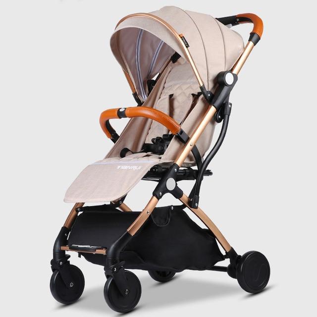 Cochecito de bebé Plano Ligero Viajante Portátil