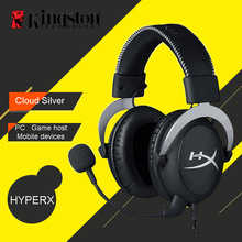 Kingston HyperX Cloud Pro Silver Gaming Headphone with Microphone Volume Control Headset 3.5mm Plug Steelseries Auriculares(China)