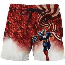 2017 New Superman Dragon Ball Z Naruto Style Beach Shorts Summer Casual Men Shorts 3D Print Harajuku Funny Belt Latest Design(China)