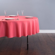 Fedex IE 90 in./230cm Round Polyester Tablecloth coral for Wedding Event Banquet Party 20/Pack(China)