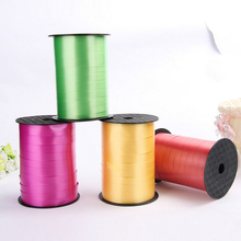 1PCS MultiColor 250 Yards Balloon Ribbon Roll DIY Gifts Crafts Foil Curling Wedding Birthday Party Decorations Kids Supplies 5mm(China)