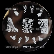 Beautiful Design Metal Nail Art Print Image Stamping Template Stamp Plate W series Vines Rose Flowers Charming Cat  W202