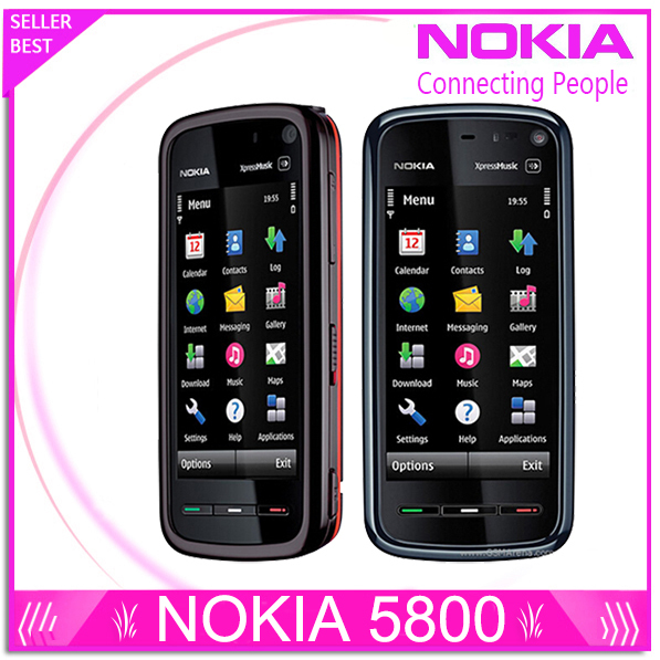 Refurbished Unlocked Phone Nokia 5800 xpressmusic 3.15MP Camera GPS Wifi FM radio Bluetooth One year warranty Free shipping(China (Mainland))