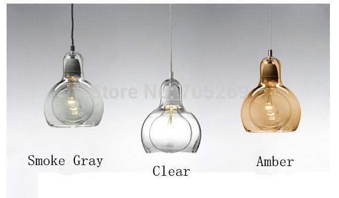 Brief Modern Transparent Glass Bulb Pendant Light Personalized Single-head Bar Counter Lamps Diamerter 18cm High 23cm<br>