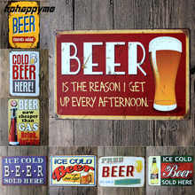 Ice Clod Beer Vintage Decoration Metal Plate Poster Bar Open Sign Gifts Home Decor Plate Pub Club Gallery Poster Tips 20*30CM