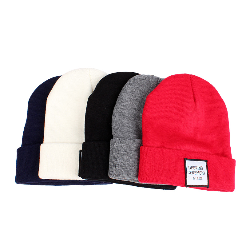 Knitted Cotton Women Beanie Hats Fashion OPENING CEREMONY Women Hats Autumn Winter Warm Female Hat Letter Hip Hop Women Skullies (11)