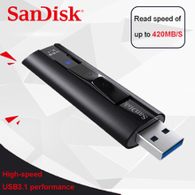 SanDisk SDCZ880 Extreme PRO 128GB USB 3.1 USB Flash Drive 256GB Pen Drive high speed 420mb/s Pendrive Memory Usb Stick
