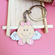 Girl angel key ring Best friend's chains for lovers Car keyrings children Keychain Christmas gift Factory direct sales wholesale