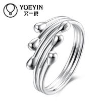 New silver plated finger rings for women silver-plating jewelry anel feminino Factory price Wholesale Retail gift