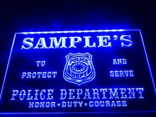 DZ071-  Name Personalized Custom Police Station Badge Bar Beer  LED Neon Light Sign
