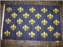SMALL FLEUR DE LIS BLUE 23 FRENCH FRANC Flag 3X5FT Country Flag National Flag