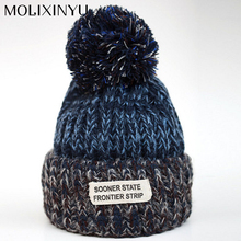 Spell Labeling Baby Cap Thick Knitting Wool Kid Beanies Boy Hat Girl Cap Baby Warm Hat Baby Winter Hat Child Accessories Toddler