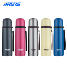 Brand New Haers 500ml Thermal Cup 18/8 Stainless Steel Glass Liner Vacuum Flask Tumbler Water Bottle Cup Thermos(China)