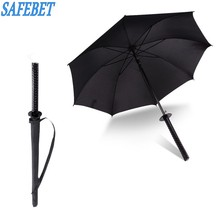 SAFEBET Brand Long Handle Umbrella Large Windproof Ninja-like Japanese Samurai Sword Long-handle Rain Sun Straight Umbrella(China)