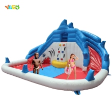 YARD Shark Water Park Inflatable Dual Slide Kids Jumper Outdoor Play Special Offer for Africa
