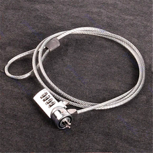 Hot Selling 1pcs 4 Digit Security Password Computer Lock Anti-theft Chain For Notebook PC Laptop Anti-theft lock