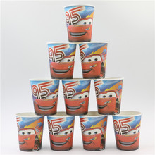 Hot Sale 10Pcs/lot Cars paper cup Kids Supplies Favors Paper Cup Drink(China)