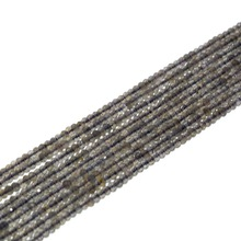 3mm labradorite beads rondelle faceted beads full strand(China)