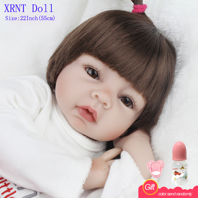 Reborn Babies Dolls 22 Inch Soft Silicone Reborn Baby Dolls baby toys doll For Girls Toys Newborn Baby<br><br>Aliexpress