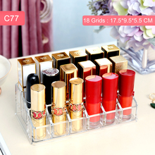 Anfei New lipsticks holder acrylic square lipstick container cosmetics box clear nice tube container fashion storage box C231