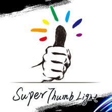 2016 New Professional Super Thumb Light Multicolor Magic Tricks Free Shipping Stage Magic Prop