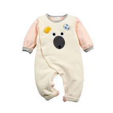 NewBorn Baby Rompers Cute Bear Winter Thick Warm Baby Clothing Long Sleeve Hooded Romper Baby Girl Jumpsuit Fleece Clothes