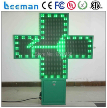 Leeman Shenzhen outdoor moving led display sign Double sided led pharmacy cross pharmacy cross led sign board panel