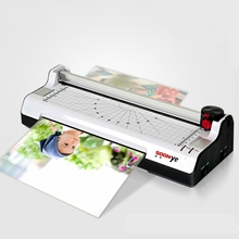 New Smart Photo Laminator A4 Trimmer Machine Sealed Plastic Laminating Machine Hot Cold Laminator(China)