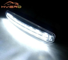 1pcs Car Daytime Running Light 8LED DRL Super White DC 12V Head Lamp Parking Fog Lamp Waterproof Light Car Styling Accessories