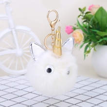 2PCS Creative New White Small Monster Hair Ball Pendant Toys Pinata Gags & Practical Jokes Modeling Back to School Dolls oyuncak(China)