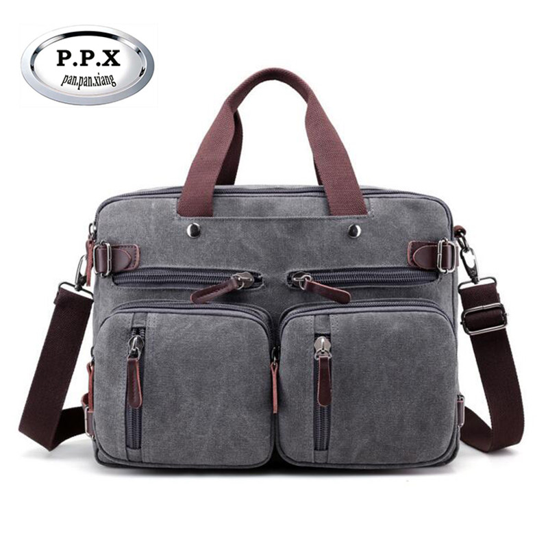 New Arrived Retro Trend Mens Handbags Wear-resisting Canvas Travel Bag Brand Multifunction Bags Casual Male Messenger Bag M618<br>