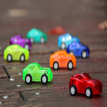 New Child Kids Plastic Toy Transparent Mini Pull Back Model Car Educational Toy Nice Birthday Gift For Baby 1pcs Color Random!(China)