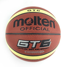 2016 Official Size 6 Molten GT6 Basket Basketball Ball PU Leather Indoor Outdoor Basketball Training Equipment With Ball Net+Pin